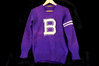"Purple Jersild Knitting Co. Letterman Sweater - ""B"""