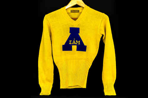 Goldenrod Lowe & Campbell Sigma Alpha Mu Sweater