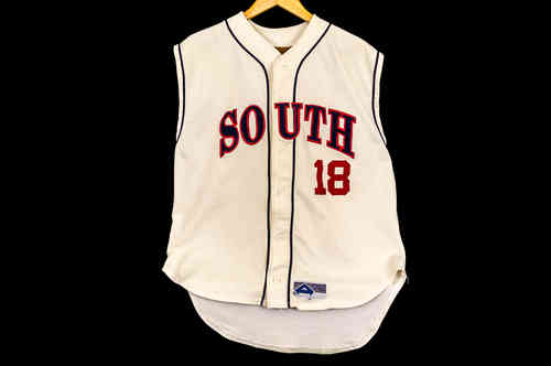 #18 White Athletix Apparel Baseball Jersey