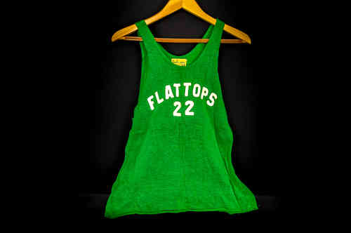 #22 Kelly Green Hirsch and Price Knit Basketball Jersey