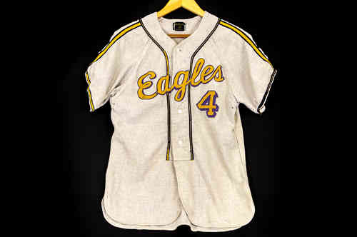 #4 Grey MacGregor Baseball Uniform Shirt