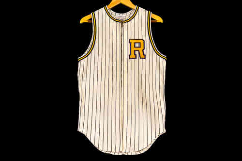 #28 White cotton Medalist Sand-Knit Baseball Jersey