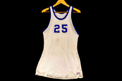 #25 White Wilson Basketball Jersey