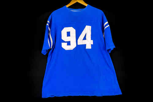 #94 Blue Short-Sleeved Football Jersey
