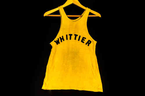 "#8 Black & Gold ""Whittier"" Youth Basketball Uniform"