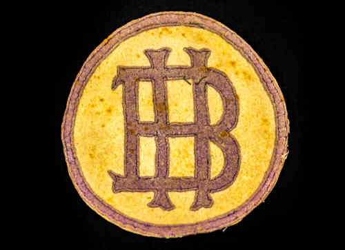 "Tan and Brown ""BH"" Patch"