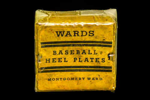 Montgomery Ward Baseball Heel Plates (Pair) in Box
