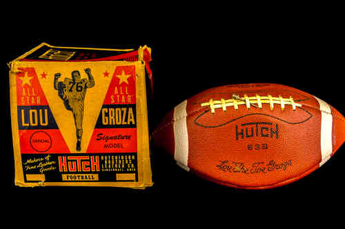 "Hutch ""Lou 'The Toe' Groza"" Signature Model Football in Box"