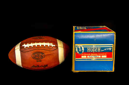 "New-In-Box Hutch ""Don McAuliffe"" Football, Model No. 64B"