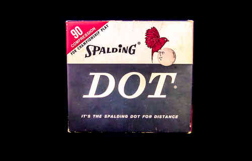 BOX ONLY 1960's - 1970's Spalding DOT Golf Balls