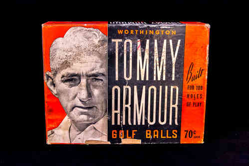 BOX ONLY 1940's-1950's Worthington Tommy Armour Golf Ball