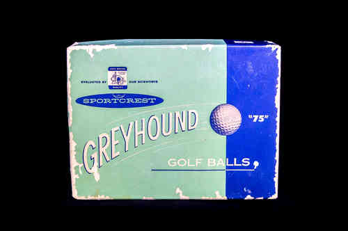"Sportcrest Greyhound ""75"" Golf Balls Display Case"