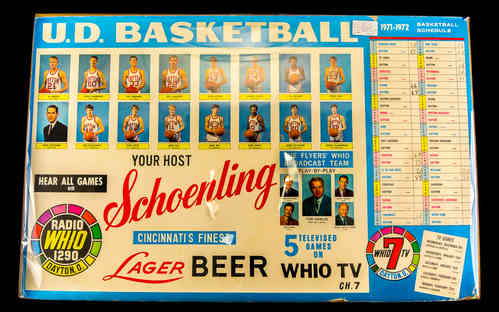 1970s U.D. Basketball-TheFlyers | Coach Don Donoher-Game Schedule Poster