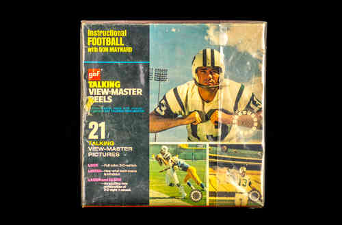 "1970 GAF Corp ""Instructional Football with Don Maynard"" Talking View-Master Reels in Box"