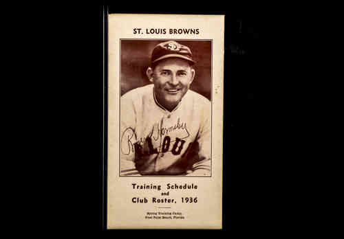1936 St. Louis Browns Training Schedule|Roster|Rogers Hornsby