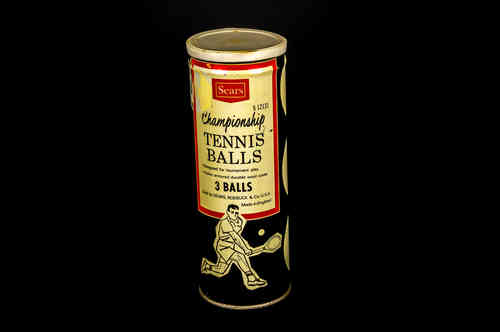 Key-wind Can of 3 Sears Championship Tennis Balls