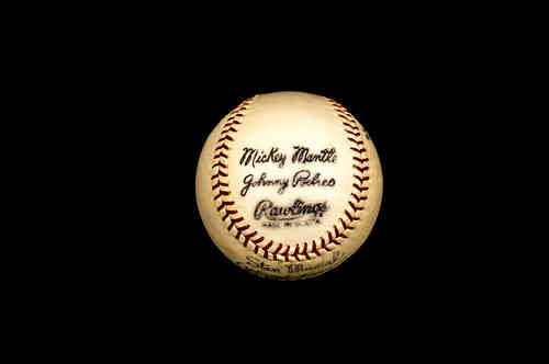 Rawlings Stan Musial Official League Mickey Mantle Facsimile Autographed Baseball
