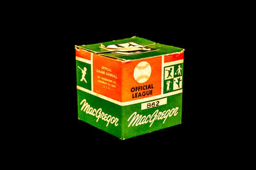 BOX ONLY: MacGregor Official League Baseball No B62