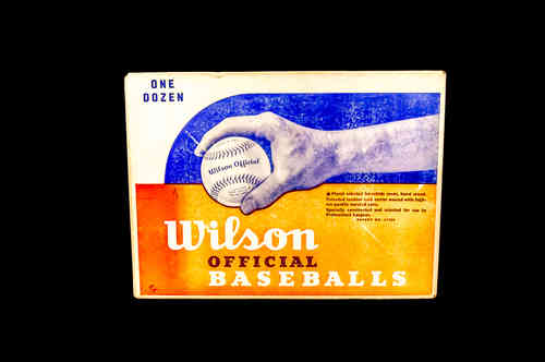 BOX ONLY: Wilson Official Baseballs Master Box No A1010
