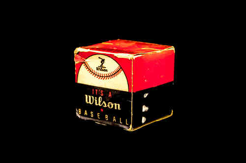 BOX ONLY: 1940's Wilson Sporting Goods Baseball