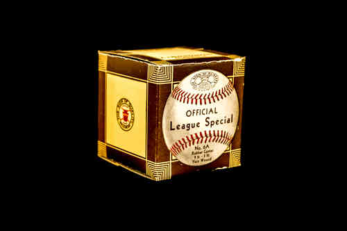 BOX ONLY: A.J. Reach Co Official League Special Baseball No 6A