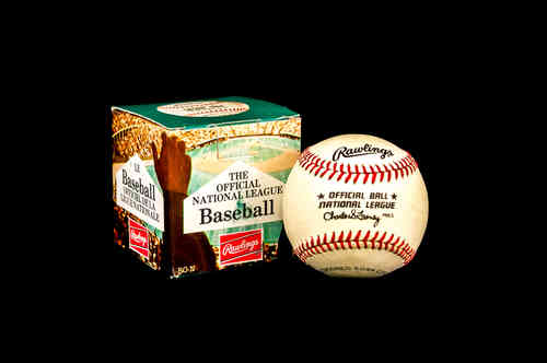 70's-80's Rawlings National League RO-N Ball in Box Charles Feeney