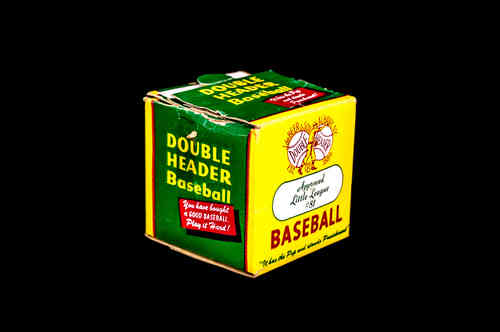 BOX ONLY: J. deBeer Double Header Approved Little League Baseball No 81