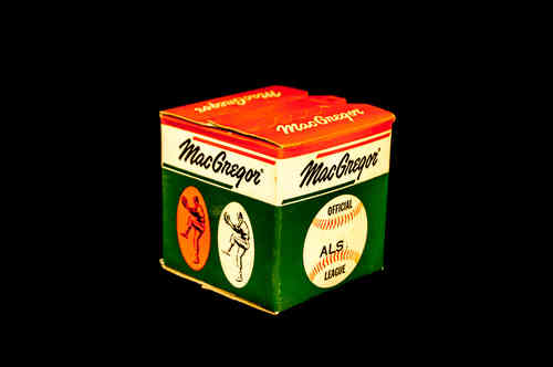 BOX ONLY: MacGregor Official League Baseball No ALS