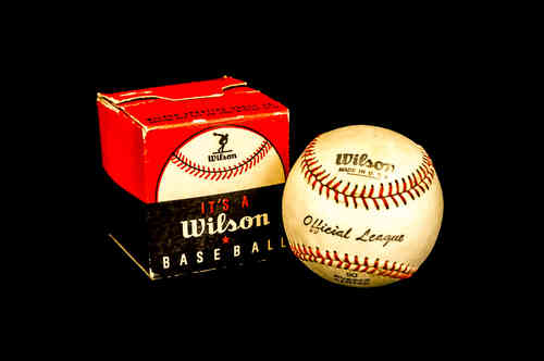 Wilson Official League Baseball No 90 in box.