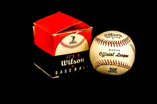 Wilson Official League Baseball No W150 in box.