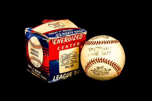 J. DeBeer Energized Center League Ball Baseball No 68 in box
