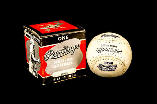 Rawlings Flatseam Softball No 312WH in Box