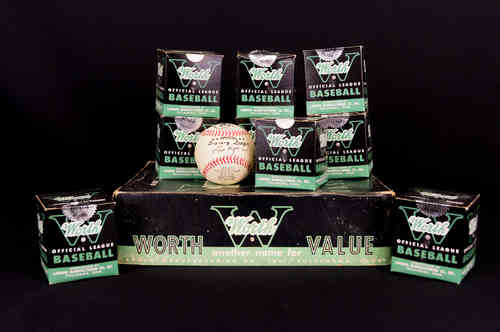 "Worth Pony League PL100 ""Lew Hays"" Baseballs Master Box with Nine Balls"