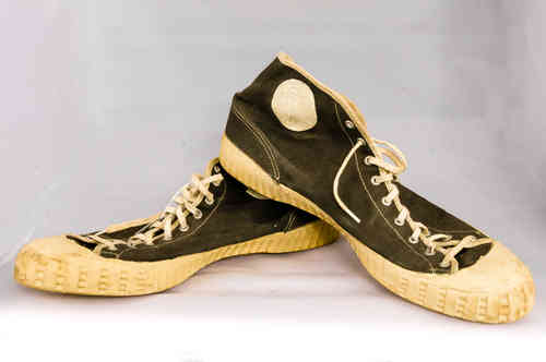 40's-50's Gum-Soled High-Top Basketball Shoes