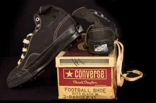 New-In-Box Canvas Converse Chuck Taylor Football Shoes