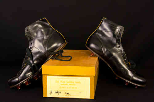 New-In-Box Jack Ward Leather High-Top Football Cleats