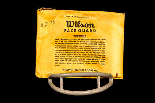 Wilson Two-Bar Football Face Mask in Bag