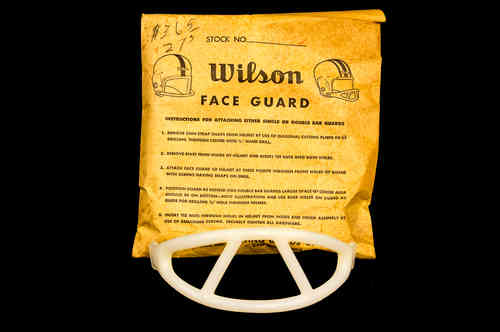 Wilson Two-Bar Football Face Mask in Bag White