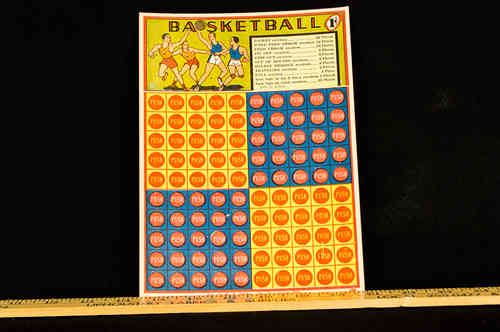 W H Brady Co Basketball Punch Card