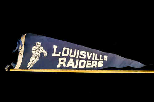 Blue Louisville Radiers Pennant 26 inch