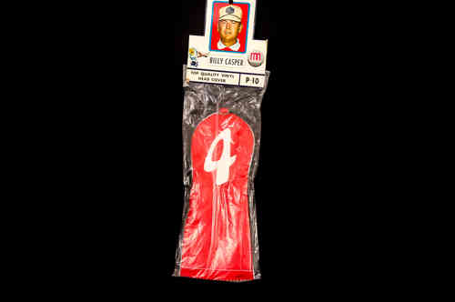 New-In-Bag Billy Casper 4 Wood Head Covers No P 10 Red