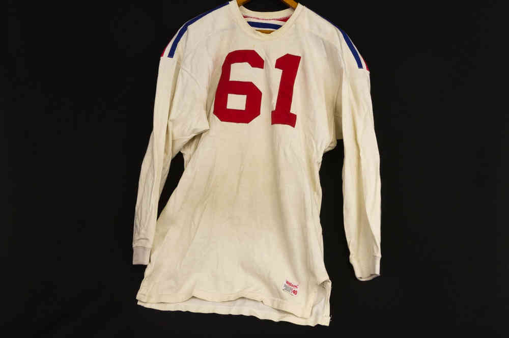 Full-Sized Wilson All-Star Durene Long-Sleeved Mens Football Jersey