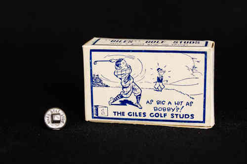 Giles Metal Golf Studs in Box
