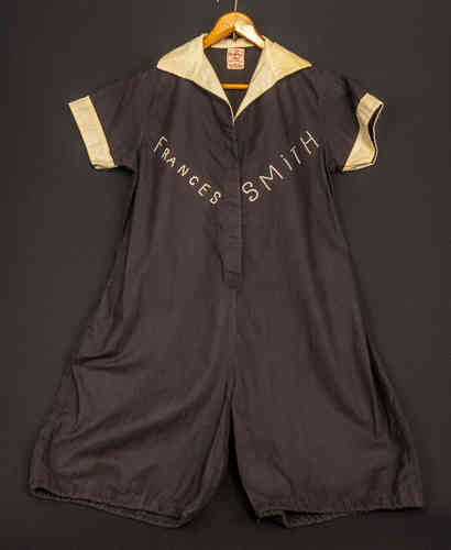 "Early Perfetex Linen Women's athletic Exercise Suit, Playground suit ""Frances Smith"" school"