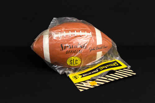 "New-in-Package Spalding ""John David Crow"" Pace Setter Rubber Football"