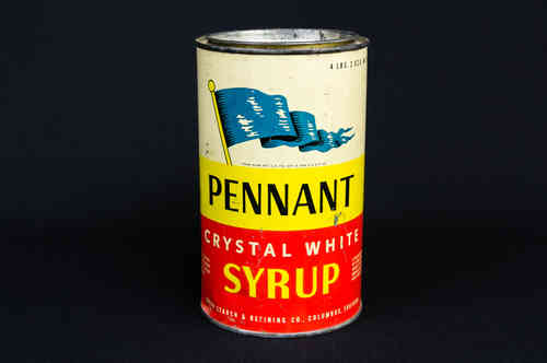 1940s Pennant Crystal White Syrup Canister
