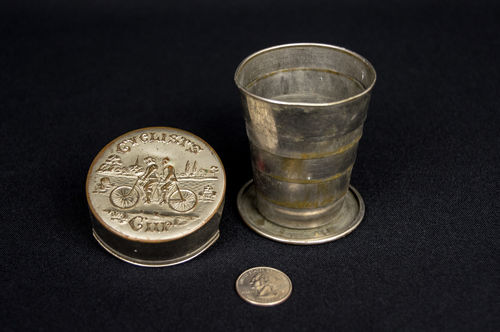 19th Century Metal Collapsible Cyclist's Cup