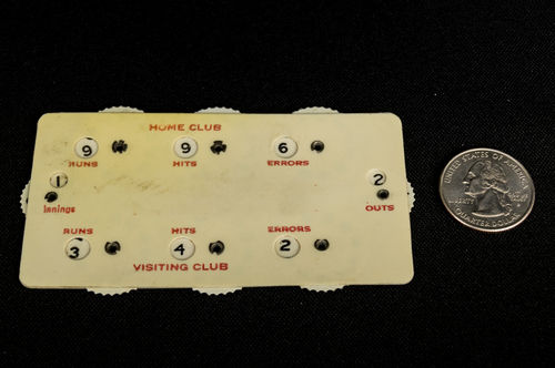 Vintage Celluloid Baseball Scoring Tablet Balls and Strikes Counter