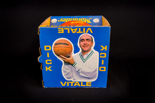 "Mohinder City Rock ""Dick Vitale"" Basketball in Picture Box"