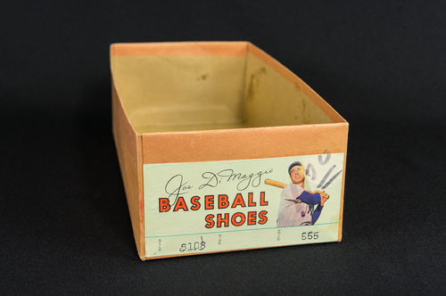 BOX ONLY: Joe DiMaggio Baseball Shoes Picture Box